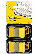 Index POST-IT dubbelpack 2x50 flik, gul