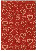 Presentpapper 57cmx154m Dotted Hearts
