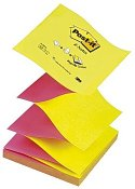 Notes POST-IT Z-block 76x76mm gul/rosa