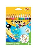 BIC Kids Evolution triangel 12 färger