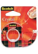 Tejp crystal SCOTCH m.hållare 10mx12mm
