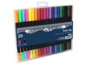 20-p twin tip fineliner
