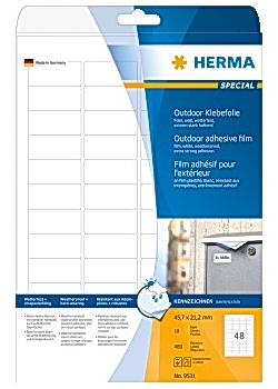 Etikett HERMA Outdoor 45,7x21,2mm (480)